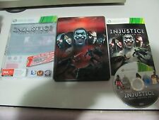 "Injustice Gods Among Us Metal Case Special Edition ""Great Xbox 360 Game"""