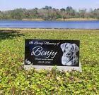 12x6 memorial, dog memorial, headstone grave marker, tombstone