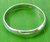 """925 sterling silver Plain """"CURVED 3mm"""" wedding band ring size I to Z+7 - UNISEX"""
