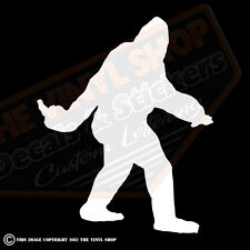 Bigfoot Middle Finger Sasquatch Yeti Sticker Decal NW WA Conspiracy Car Truck