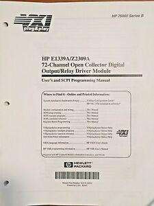 HP 75000 Series E1339A/Z2309A & E1403C/E1407A Technical Manual Bundle Set