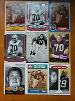 Art Donovan HOF - NICE 9 CARD LOT Baltimore Colts / Boston College