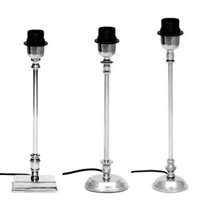 B-Ware Lampenfuß Aluminum poliert E27 Nachttischlampe Tischlampe Schirmträger