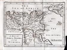 MAP of AFRICA PROPRIA & NUMIDIA 1747 ANTIQUE LINE ENGRAVING
