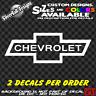 CHEVROLET Custom Vinyl sticker Laptop Car Window Bumper Impala SS Z28 Toolbox