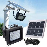 Solar 54 LED Light Sensor Flood Spot Lamp Garden Outdoor Security Waterproof IT