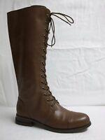 Zoe + Luca Size 6.5 M Lisa Brown Leather Knee High New Womens Shoes NWOB Boots