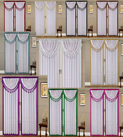 2PC AMY #2 ROD POCKET FAUX SILK 2 TONE COLOR WINDOW CURTAIN PANELS TREATMENT