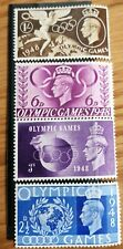 1948 Olympic Games GB Mint Stamps - Set Of 4