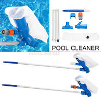 Swimming Pool Brush Cleaning Tool Spa Pond Pool Fountain Vacuum Cleaner w