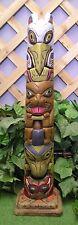 North American Tiki Totem Pole Rapi Nui Latex Fiberglass Mold Concrete Plaster