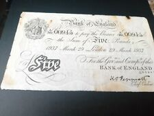 More details for peppiatt white 5 pound issued march 29 1937 note serial numbers a386 /00915