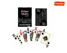 Baraja Cartas Pokerstars Negra Poker Stars 100% plástico plastic cards single