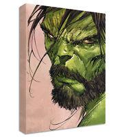 The Hulk with Beard Canvas | LARGE WALL ART | marvel bearded avengers assemble