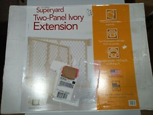 North States White Two-Panel Superyard Extension Kit Only Baby Kid Play Yard