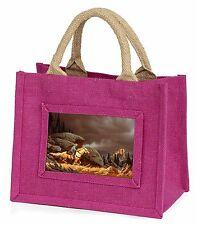 Horse Riding Cowboy Little Girls Small Pink Shopping Bag Christmas Gif, AHC-1BMP
