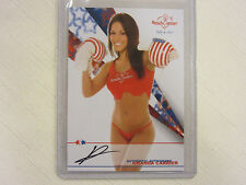 2012 Bench Warmer July 4th   Amanda Carrier Autograph Card