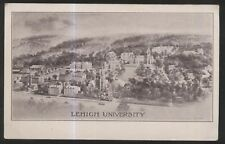 POSTCARD SOUTH BETHLEHEM PA LEIGH UNIVERSITY 1867 CAMPUS PRINT AERIAL VIEW 1907