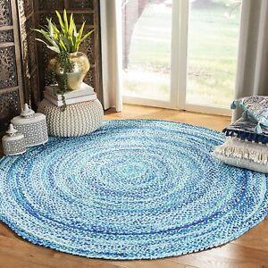 Rug 100% Natural Cotton Reversible Handmade Rug modern Area Living decor rug