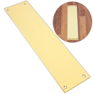 300mm SOLID BRASS FINGER PLATE Quality Victorian Style Push Pull Panel Cover UK