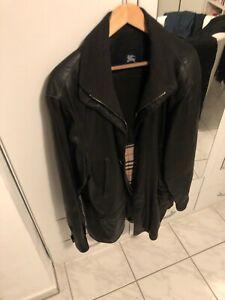 Burberry Herren Lederjacke Herrenjacke Edel London Nappa Leder Gr. 52 schwarz XL
