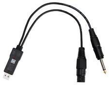 USB MIKROFON AUDIO INTERFACE RECORDING SOUND KARTE KABEL ADAPTER PC MAC WANDLER