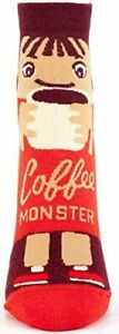 Blue Q Ankle Cotton Blend Socks Coffee Monster NEW