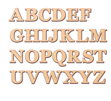 Small Wooden Letters MDF Mini Laser Cut Alphabet  VARIOUS sizes 2cm - 7.5cm