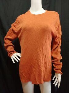 BANANA REPUBLIC Orange Men's Light Knit Tee Size: S