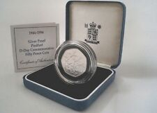 Royal Mint 1994 Silver Proof Fifty Pence Coin - D-Day Commemorative