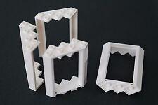 4 Lego Fenster Winkelfenster Eckfenster 4x4x6 weiss NEU 28327 ohne Glas