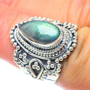 Labradorite 925 Sterling Silver Ring Size 6.5 Ana Co Jewelry R56860F