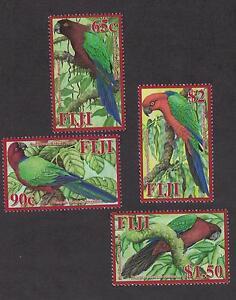 Fiji 1183 - 1186 -  Parrots. Set of 4. MNH OG.   #02 FIJIs4