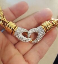 """Center PavÉ Knot Snaps Out! Amazing Goldplated Round Woven Necklace, 16-18"""""""