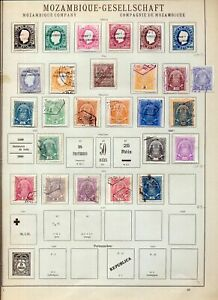 Mozambique & Company 1890s/1920s M&U On Old Pages(Appx 115 Items)NS63