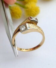 ANELLO IN ORO GIALLO 18KT CON 2 DIAMANTI - 18KT SOLID GOLD DIAMONDS RING