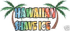 "Hawaiian Shave Ice Decal 28"" Concession Trailer Cart Food Truck Vinyl Sticker"