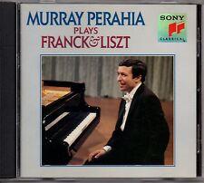 "MURRAY PERAHIA ""PLAYS FRANCK & LISZT"" CD 1991 sony"