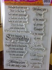 Impression Obsession clear acrylic stamps - SYMPATHY SENTIMENTS, made in USA