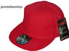 Nuovo Cappello Aderente Rosso, Ethos Hip Hop Urbano Retrò, Tutti Taglie Piatta