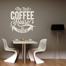 Wall Decal The Best Coffee House slogan Cafe Sticker Kitchen Wall Decal #2074