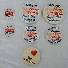 Lot of 7 Chicago White Sox 1959 Dodgers World Series Pin Back Button B2098
