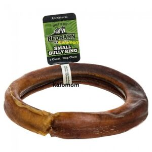 RedBarn BULLY RINGS Dog Chews & Treats Sticks Grass Fed Cattle NATURAL