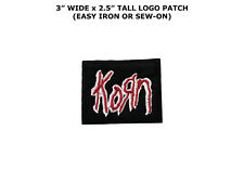 KORN EMBROIDERED SEW IRON ON JACKET PATCH BADGE HEAVY METAL ROCK T-SHIRT LOGO