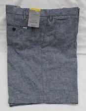 Men's Marks and Spencer Indigo Linen Blend 5 Pocket Shorts Waist 38 in