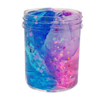 Non-Toxic Clear Slime Beautiful Color Mixing Cloud Slime Kids Relief Stress Toys