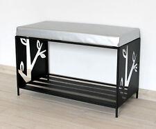 Schuhregal Sitzbank Metall Schwarz 70 cm 10-1505 Schuhregal Schuhschrank Modern
