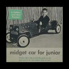 Sidewalk Midget Car gas powered 1953 How-To build Plans