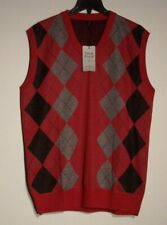 NWT MEN'S TRUE ROCK XL MULTI-COLOR DIAMOND ARGYLE SWEATER SLEEVELESS VEST #1629