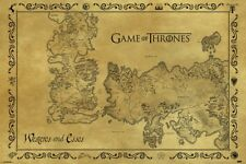 NEW MAXI POSTER GAME OF THRONES WESTEROS AND ESSOS MAP